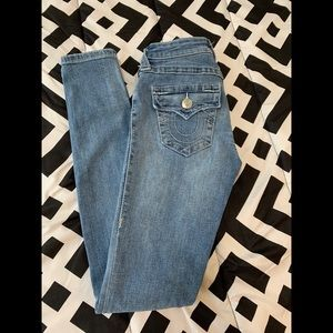 True Religion Super Skinny Light Wash Jeans